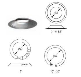 M&G DuraVent 26'' Round Gas Vent Storm Collar - 26GVSC // 26GVSC