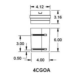 "Metal-Fab Corr/Guard 4"" D Outside Collar Adapter - 4CGOA"