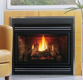 Kingsman Direct Vent Back Flue Gas Fireplace Heater - MV - ZDV3624LPB