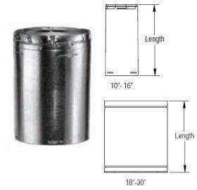 M&G DuraVent 18'' Round Gas Vent 36'' Length Round Rigid Pipe - 18GV36 // 18GV36