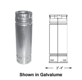 DuraVent 3 PelletVent 12 Straight Length Pipe - Black - 3PVL-12B