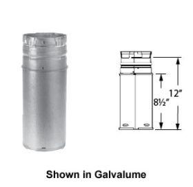 DuraVent 3 PelletVent 12 Adjustable Length Pipe - Black - 3PVL-A12B