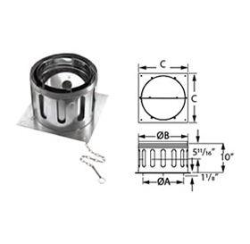 "M&G DuraVent 12"" DuraChimney II 12"" Diameter Anchor Plate with Damper - 12DCA-APD"