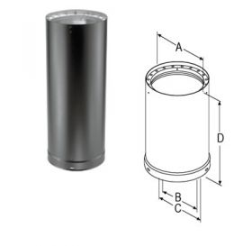 M&G DuraVent 7'' x 12'' DVL Double-Wall Black Pipe - 8712 // 7DVL-12