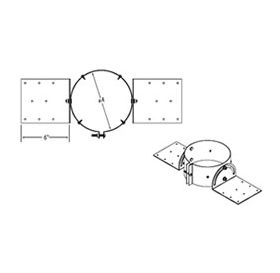 """M&G DuraVent 6"""" PolyPro Double Wall Roof Support - 6PPS-RSDW"""
