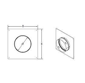 "M&G DuraVent 6"" PolyPro Double Wall HST Trim Plate - 6PPS-HSTDW"