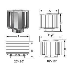 """M&G DuraVent 7"""" Round Type B Gas Vent High-Wind Cap - 7GVVTH"""