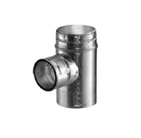 "M&G DuraVent 7"" Round Type B Gas Vent Increaser Tee 7"" x 6"" - 7GVTR6"