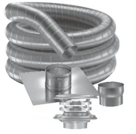 "DuraVent DuraFlex SS 6"" 304 Stainless Steel 30' DuraFlex Kit 7103-30"