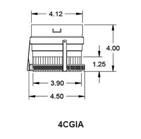 "Metal-Fab Corr/Guard 4"" D Inside Collar Adapter - 4CGIA"