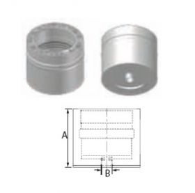 "M&G DuraVent 12"" FasNSeal W2 Double Wall Drain Fitting- W2-DF12"