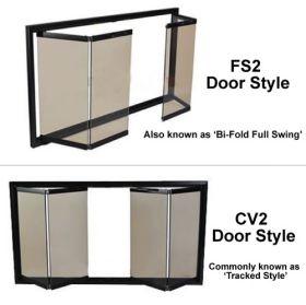 Thermo-Rite Door Styles - Bi-Fold Full Swing Trackless (FS2) or Bi-Fold Tracked (CV2)