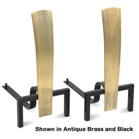 Pilgrim Fonda Andirons - Antique Brass / Black - 18670