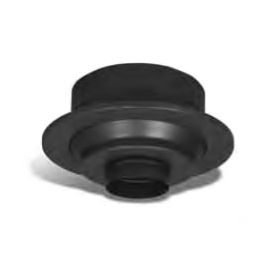 Security Chimneys 5'' Secure Temp ASHT Finishing Support W/Coupler With Removable Collar - 5SFCA