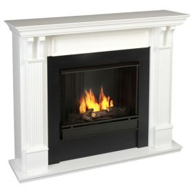 Real Flame Ashley Gel Fuel Wall Fireplace - White - 7100-W