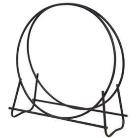 "Uniflame Black Finish 48"" Diameter Tubular Log Hoop - W-1889"