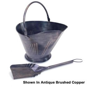 Napa Forge Coal/Pellet Bucket with Shovel - Antique Brushed Copper - 19506