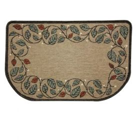 Napa Forge Textured Weave Berry Vine Natural Hearth Rug - 19628