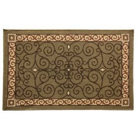 Napa Forge Textured Weave Eastly Leaf Hearth Rug - 19630
