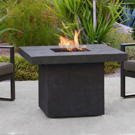 Real Flame Ventura Square Chat Height Fire Table in Kodiak Brown - 9630LP-TKB
