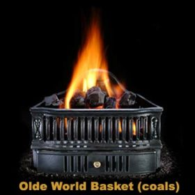 Hargrove Olde World Basket w/ Ceramic Coals - OBCO19N1B