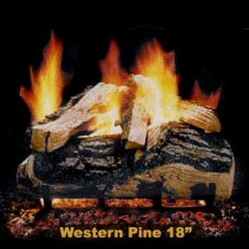 "Hargrove 18"" Western Pine Log Set - See Thru - Natural Gas - WPS18ST"