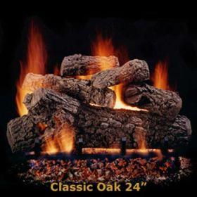 "Hargrove 24"" Classic Oak Log Set - See Thru - Natural Gas - CLS24ST"