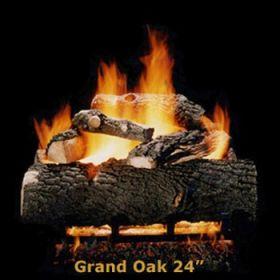"Hargrove 24"" Grand Oak Log Set - See Thru - Natural Gas - GOS24ST"