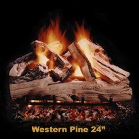 "Hargrove 24"" Western Pine Log Set - See Thru -Natural Gas- WPS24ST"