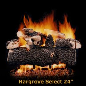 "Hargrove 24"" Hargrove Select Log Set - See Thru -Natural Gas- HSS24ST"