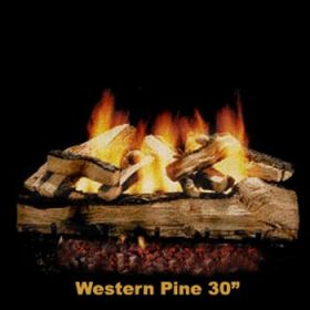 "Hargrove 30"" Western Pine Log Set - See Thru - Natural Gas - WPS30ST"