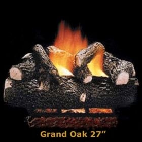 "Hargrove 27"" Grand Oak Log Set - See Thru - Natural Gas - GOS27ST"