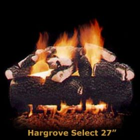 "Hargrove 27"" Hargrove Select Log Set - See Thru -Natural Gas- HSS27ST"