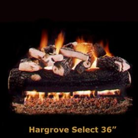 "Hargrove 36"" Hargrove Select Log Set - See Thru -Natural Gas- HSS36ST"