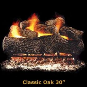 "Hargrove 30"" Classic Oak Log Set - See Thru - Propane - CLS30STP"