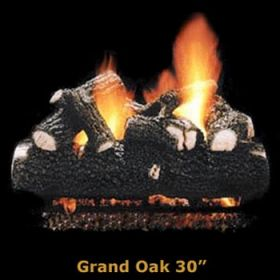"Hargrove 30"" Grand Oak Log Set - See Thru - Propane - GOS30STP"