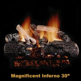 "Hargrove 30"" Magnificent Inferno Log Set -See Thru-Propane- MIS30STP"