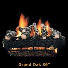 """Hargrove 36"""" Grand Oak Log Set - See Thru - Propane - GOS36STP"""
