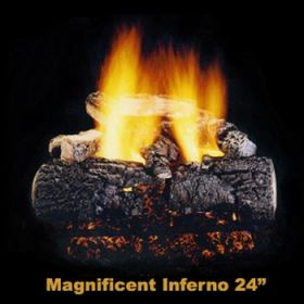 """Hargrove 24"""" Magnificent Inferno Log Set - Shallow ST - NG - MIS24STS"""