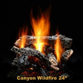 "Hargrove 24"" Canyon Wildfire Log Set - Shallow ST - LP - CWS24STSP"