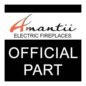Part for Amantii - 28'' fireplace middle glass panel - 4783SG