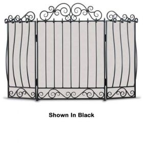 Napa Forge 3 Panel Villa Screen - Brushed Pewter - 19206