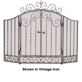 Napa Forge 3 Panel Vienna Screen with Doors - Brushed Bronze - 19326