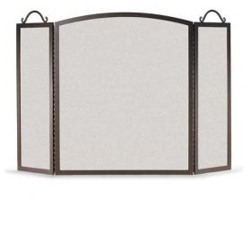Napa Forge 3 Panel Traditional Arch Screen - Black - 19212