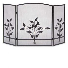 Napa Forge 3 Panel Three Tea Light Screen - Black - 19231
