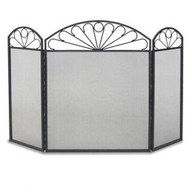 Napa Forge 3 Panel Colonial Screen - Black - 19234