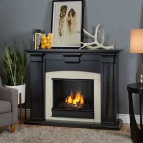 Real Flame Adelaide Gel Fireplace in Blackwash - 7920-BW