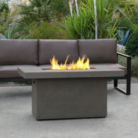 Real Flame Ventura Rectangle Gas Chat Height Fire Table in Glacier Gray - C9640LP-TGLG
