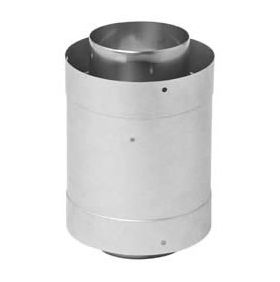 """Metal-Fab Corr/Guard 4"""" D Double Male Adapter - DW - 4CGDMA304SS"""