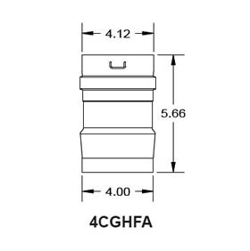 "Metal-Fab Corr/Guard 4"" D Thermal Solutions Adapter - 4CGHFA"